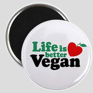 Life is Better Vegan Magnet