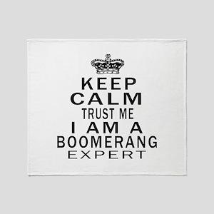 Boomerang Expert Designs Throw Blanket