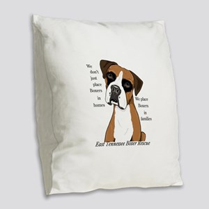 ETBR Merchandise Logo Burlap Throw Pillow