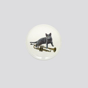 Cat with Trumpet Mini Button