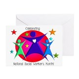 Happy social worker month Greeting Cards (10 Pack)