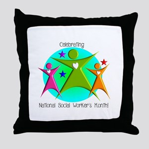 Social Worker's Month Throw Pillow