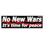 No New Wars bumper sticker