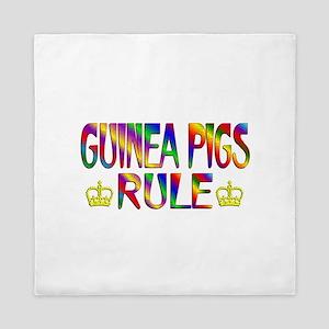Guinea Pigs Rule Queen Duvet