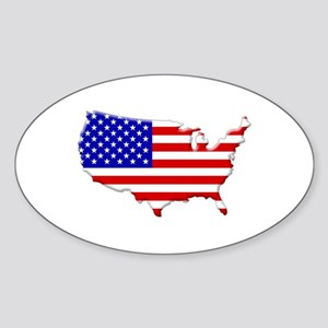 Continental US Flag Sticker