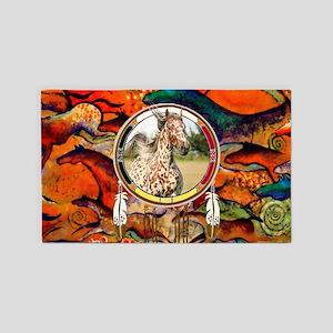 Appaloosa Horse Shield Area Rug