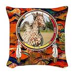 Appaloosa Horse Shield Woven Throw Pillow