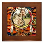 Appaloosa Horse Shield Framed Tile