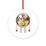 Appaloosa Horse Shield Round Ornament