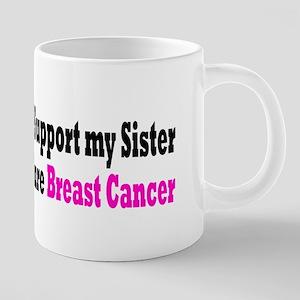 Breast Cancer 20 oz Ceramic Mega Mug