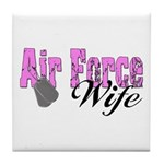 Air Force Wife Tile Coaster