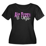 Air Force Wife Women's Plus Size Scoop Neck Dark