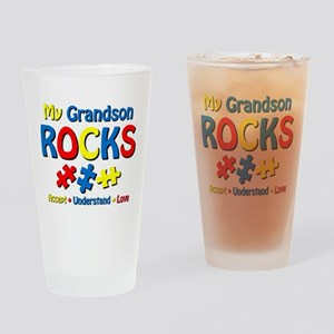 Autistic Grandson Rocks Drinking Glass