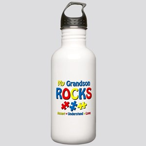 Autistic Grandson Rock Stainless Water Bottle 1.0L