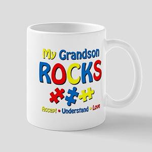 Autistic Grandson Rocks Mug