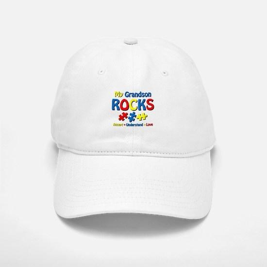 Autistic Grandson Rocks Baseball Baseball Cap