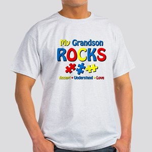 Autistic Grandson Rocks Light T-Shirt