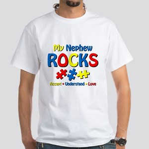 Autistic Nephew Rocks White T-Shirt