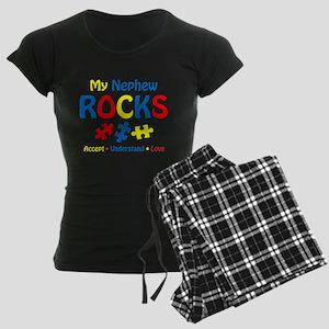 Autistic Nephew Rocks Women's Dark Pajamas