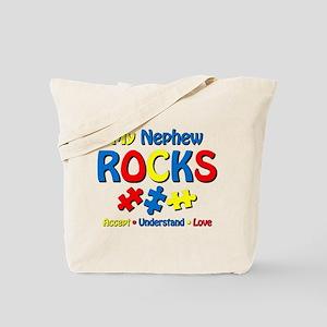 Autistic Nephew Rocks Tote Bag