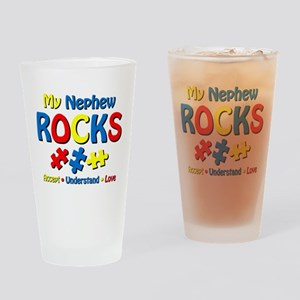 Autistic Nephew Rocks Drinking Glass