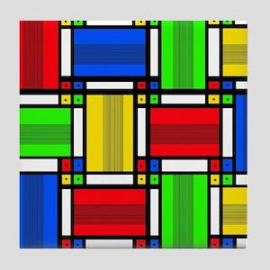 Geo Bars Tile Coaster