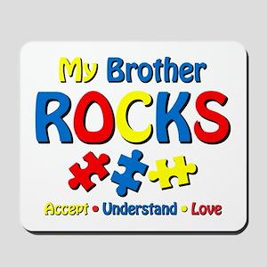 Autistic Brother Rocks Mousepad