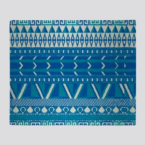 blue indian Throw Blanket