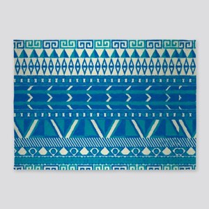 blue indian 5'x7'Area Rug