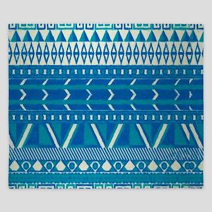 blue indian King Duvet
