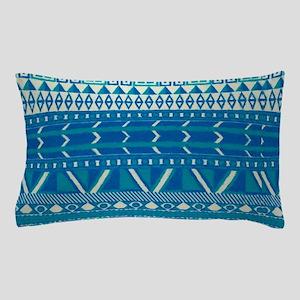 blue indian Pillow Case