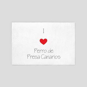 I Love Perro De Presa Canarios 4' X 6' Rug