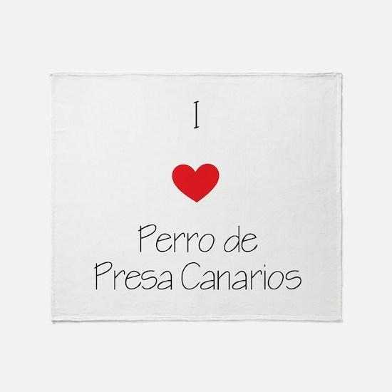 I love Perro de Presa Canarios Throw Blanket