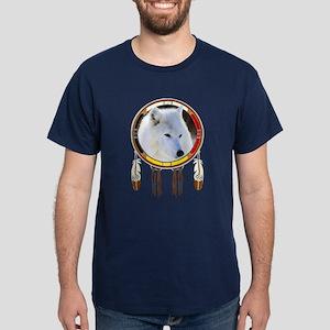 White Wolf Shield Dark T-Shirt