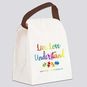 Live Love Understand Canvas Lunch Bag