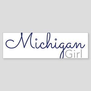 Michigan Girl Bumper Sticker
