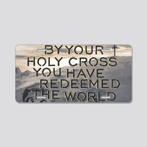 Your Holy Cross Aluminum License Plate