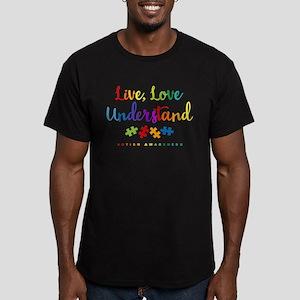 Live Love Understand Men's Fitted T-Shirt (dark)
