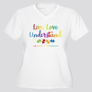 Live Love Underst Women's Plus Size V-Neck T-Shirt