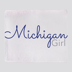 Michigan Girl Throw Blanket
