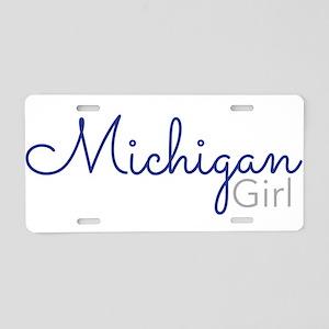 Michigan Girl Aluminum License Plate