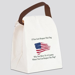 Respect The Flag Canvas Lunch Bag