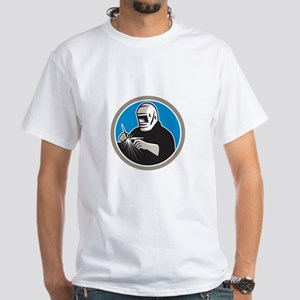 Tig Welder Welding Circle Retro T-Shirt