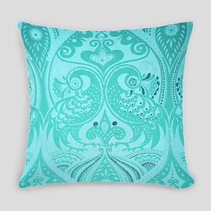 Ornamental Lovebirds Decorative Te Everyday Pillow