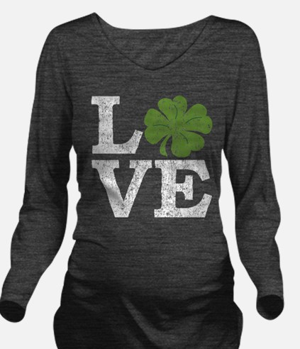 Unique St patties day Long Sleeve Maternity T-Shirt