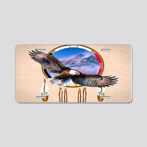 Flying Eagle Shield Aluminum License Plate