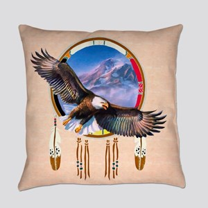 Flying Eagle Shield Everyday Pillow