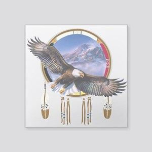 "Flying Eagle Shield Square Sticker 3"" X 3&quo"
