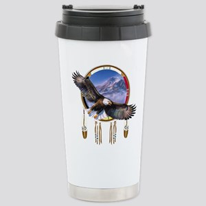 Flying Eagle Shield Stainless Steel Travel Mug
