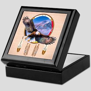 Flying Eagle Shield Keepsake Box